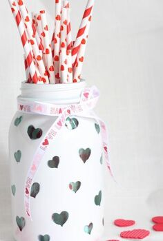 crafts valentine s day, crafts, DIY Custom Heart Jar