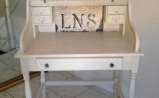 annie sloan s chalk paint desk from goodwill store, chalk paint, home maintenance repairs, painted furniture