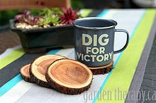 natural branch coasters, repurposing upcycling