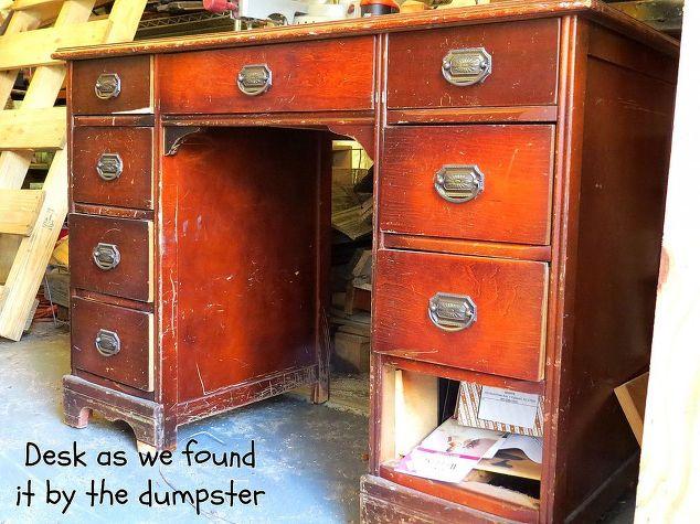 Turning A Dumpster Desk Into A Kitchen Island Hometalk