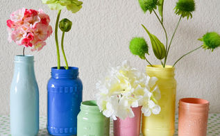 diy pastel painted mason jars, crafts, mason jars, DIY Pastel Painted Mason Jars