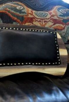 walnut and leather lap desk, crafts, Black Leather back