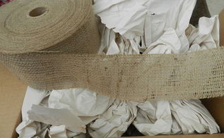 amazing burlap deal 300 feet of 4 wide burlap for under 10, crafts, 300 feet of 4 wide burlap for under 10
