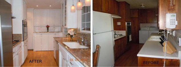 Before And After Of Kitchen Washer And Dryer Area Cover