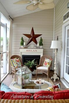 our summer porch, outdoor living, seasonal holiday decor, Welcome to our summer porch