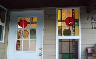 stained glass so easy, diy, flowers, how to, windows, outside looking in