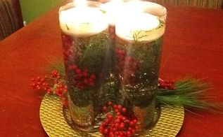 cheap chic christmas centerpiece, christmas decorations, crafts, seasonal holiday decor, Here is the finished product The Cheap Chic Christmas Centerpiece