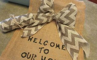diy garden flag and chevron bow, crafts, wreaths