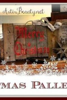 christmas d i y pallet artwork, christmas decorations, home decor, seasonal holiday decor
