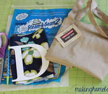monogram tote bag, crafts