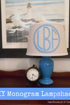 diy monogram lampshade, crafts, home decor, DIY Monogram Lampshade