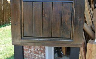 twin size alder wood door headboard, doors, painted furniture, repurposing upcycling, woodworking projects