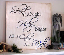 christmas mantle handmade sign silent night, crafts, seasonal holiday decor