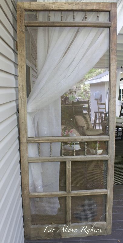 Repurposed Screen Door Project For The Porch Hometalk