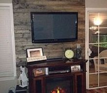 from our boring wall to our wood planked wow wall, diy, how to, living room ideas, painting, wall decor, woodworking projects, After