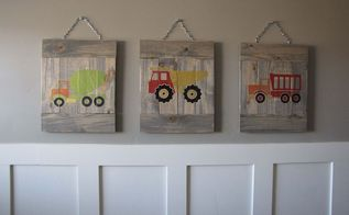 planked truck art, bedroom ideas, crafts, home decor