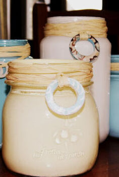 beach inspired painted jars, crafts