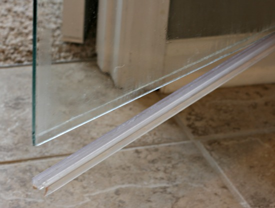 How do you use plastic door strips?