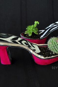 fabulous diy high heel planters, flowers, gardening, repurposing upcycling, succulents