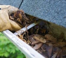 10 great ideas to get your home ready for spring, home maintenance repairs, Gutters clogged with leaves and debris will back up when they fill with water Start the spring off with clean clear gutters to avoid problems