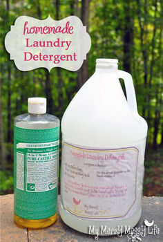homemade laundry detergent green and natural, cleaning tips, Homemade Laundry Detergent Recipe with Free Printable