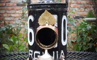 license plate repurposed metal birdhouses by gadgetsponge com, crafts, repurposing upcycling, Black License Plate Lantern Repurposed Upcycled Metal Birdhouse