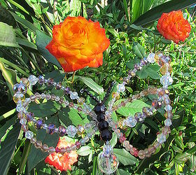 Crystal Butterfly Garden Stake, Crafts, Gardening, I Used A Bamboo Stick To  Secure
