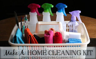 a simple way to make house cleaning easier, cleaning tips, Cleaning is much faster and easier with a well stocked cleaning kit ready to go