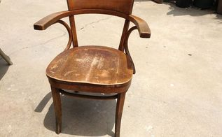 flea market 3, painted furniture, Old Thonet school chair from Camp Pendleton CA