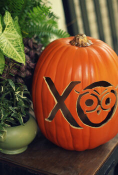a funkin pumpkin chi o style, crafts, seasonal holiday decor, Funkins are great to add your special touch to carve your favorite team school or even kids silhouette Then you can reuse it year after year
