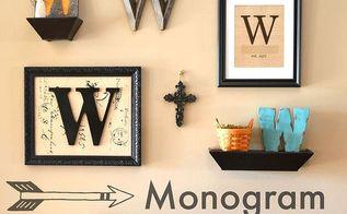 monogram gallery wall, home decor, wall decor