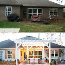 backyard bliss, outdoor living, porches, Before and After