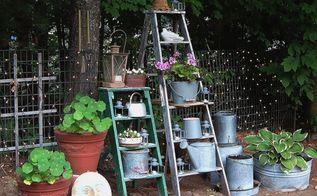 old ladders reach new heights in the garden, gardening, repurposing upcycling, Di Ellen Davenport