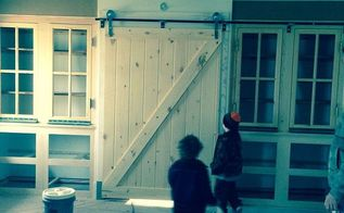 renovating our farm house, home improvement, Master bedroom closet with sliding barn door