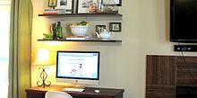 suspended desk, diy, home decor