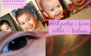 diy photo canvas with texture, crafts