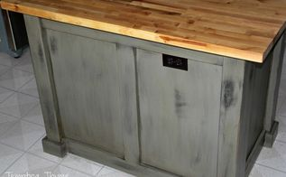 diy kitchen island makeover with plywood and lumber, diy, kitchen design, kitchen island, woodworking projects