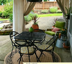 Drop Cloth Outdoor Curtains, Decks, Outdoor Living, Patio, Reupholster,  Window Treatments