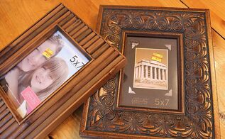 transforming a picture frame without paint, crafts, Not bad in their original state but I wanted a wintery look