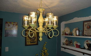 mason jar chandelier, electrical, lighting