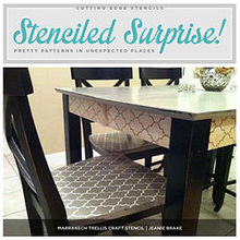 stenciled surprise pretty patterns in unexpected places, painted furniture
