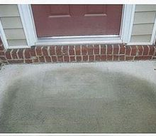 how can i add a landing step to the front of this entrance it s already 8 9, flooring