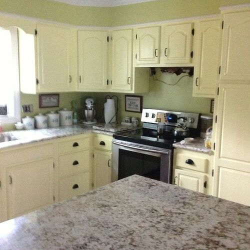 my kitchen with the granite on the island.