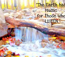 the earth has music for those who listen, outdoor living, ponds water features, Waterfall