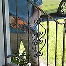 how to update and refinish old iron rails, diy, home maintenance repairs, how to, painting, stairs, Using a sawzall to remove the iron rails