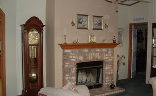 our fireplace renovation, fireplaces mantels, home decor, tiling, Before