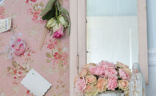 vintage vanity mirror inspiration board, repurposing upcycling
