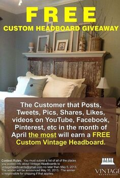 win a custom headboard