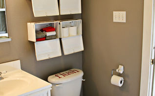 boys bathroom makeover, bathroom ideas, home decor, Fresh paint and some vintage napkin dispensers brighten up the room