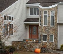 creating the wow factor for your home, curb appeal, Moving away from the vertical siding adding stonework and providing a front landing created instant curb appeal I this neighborhood